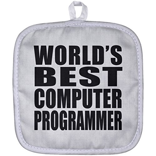 (Designsify World's Best Computer Programmer - Pot Holder, Heat Resistant Potholder, Best Gift for Family, Friend, Birthday, Wedding Anniversary, Holiday, Mother's/Father's Day)