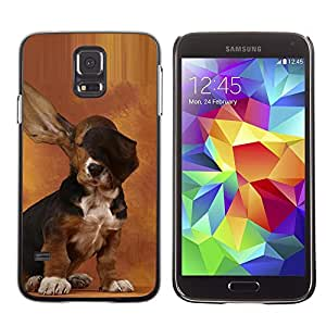 Stuss Case / Funda Carcasa protectora - Dog Long Ears Basset Hound Brown Puppy - Samsung Galaxy S5 SM-G900