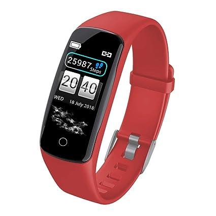 Amazon.com: Bluetooth Smartwatch,Smart Watch,Bluetooth Smartwatch Touch Screen Sport Smartwatch,Ios7.0+ Android 4.3+,Reloj inteligente(Red): Kitchen & ...