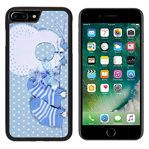 Hanging Blu (MSD Premium Apple iPhone 7 Plus Aluminum Backplate Bumper Snap Case Baby boy nursery blue socks and bib with dummy pacifier hanging from pegs on a line IMAGE 28242896)