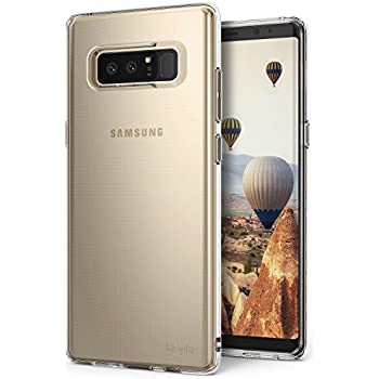 Samsung Galaxy Note 8 Phone Case Ringke [AIR] Weightless as Air, Extreme Lightweight Transparent Soft Flexible TPU Scratch Resistant Protective Case for Galaxy Note8 – Clear