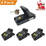 Mouse Trap - Big Rat Traps Snap Humane Power Rodent Killer, Mice Trap,Sensitive Reusable and Durable by Buyplus (4)