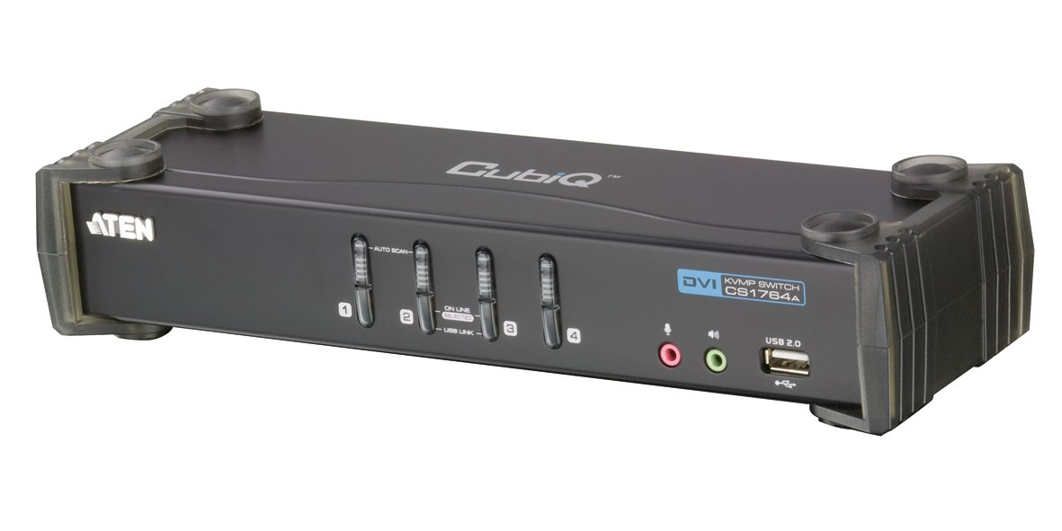 ATEN 4-Port USB 2.0 DVI KVMP Switch (CS1764A) by ATEN (Image #1)