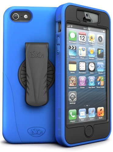 Silicone Iskin - iSkin REVO5G-BE1 Revo 360 Silicone Case for iPhone 5 - Retail Packaging - Blue Night
