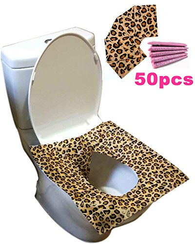 HFHM Paper Toilet Seat Covers Disposable - Potty Protection Travel Pack Flushable 50 Sheets (10 Bags) by HFHM