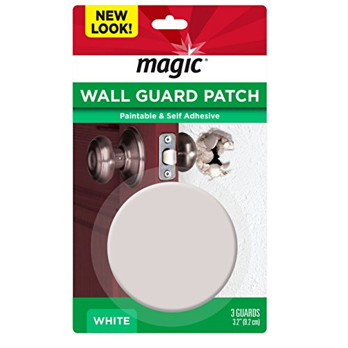 Magic Wall Guard - Quickly and Easily Repairs and Protects Walls from Doorknob Damage - 3 Pack (Cover Plate For Wall Holes In Drywall)