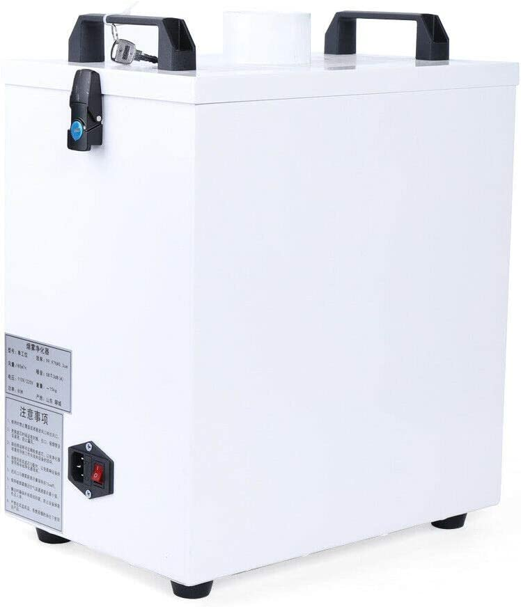 Smoke Purifier, Air Fume Extractor Smoke Purifier Cleaner for CO2 CNC Marking Engraving Machine 80W 110V US
