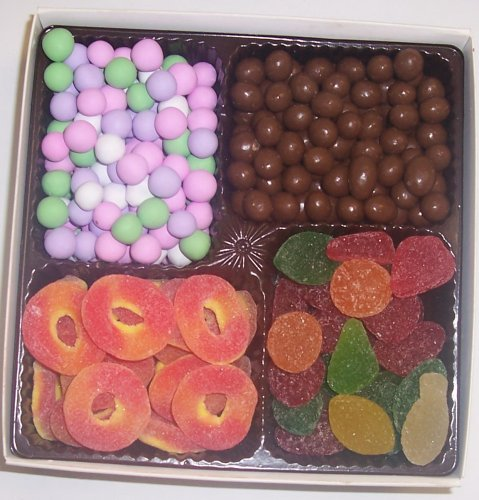 Scott's Cakes Large 4-Pack Chocolate Peanuts, Chocolate Dutch Mints, Peach Rings, & Pectin Fruit Gels by Scott's Cakes
