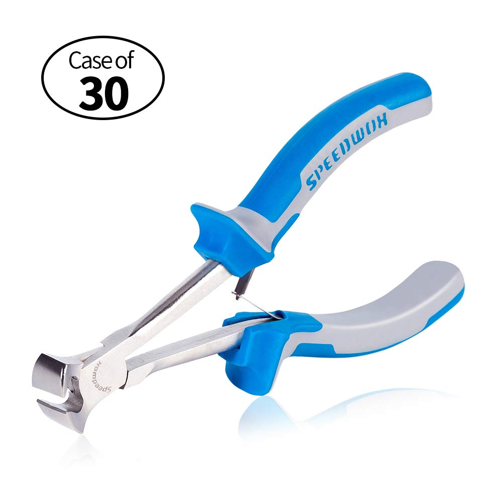 Case of 30 Units, SPEEDWOX Long Reach End Nippers 5-1/2 Inch Mini End Cutting Pliers Fine End Cutters Precision Wire Cutter for Hard to Reach Narrow Spaces Reduce Efforts Pull Nails Brads