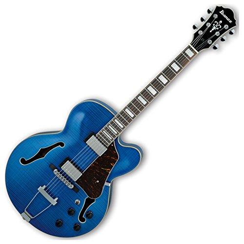 Ibanez AF75FM Artcore Hollow Body Electric Guitar (Transparent Blue) (Blues Body Guitar)