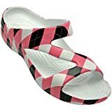DAWGS Women's Arch Support Loudmouth Z, Pink/Black Tile, 6 M US