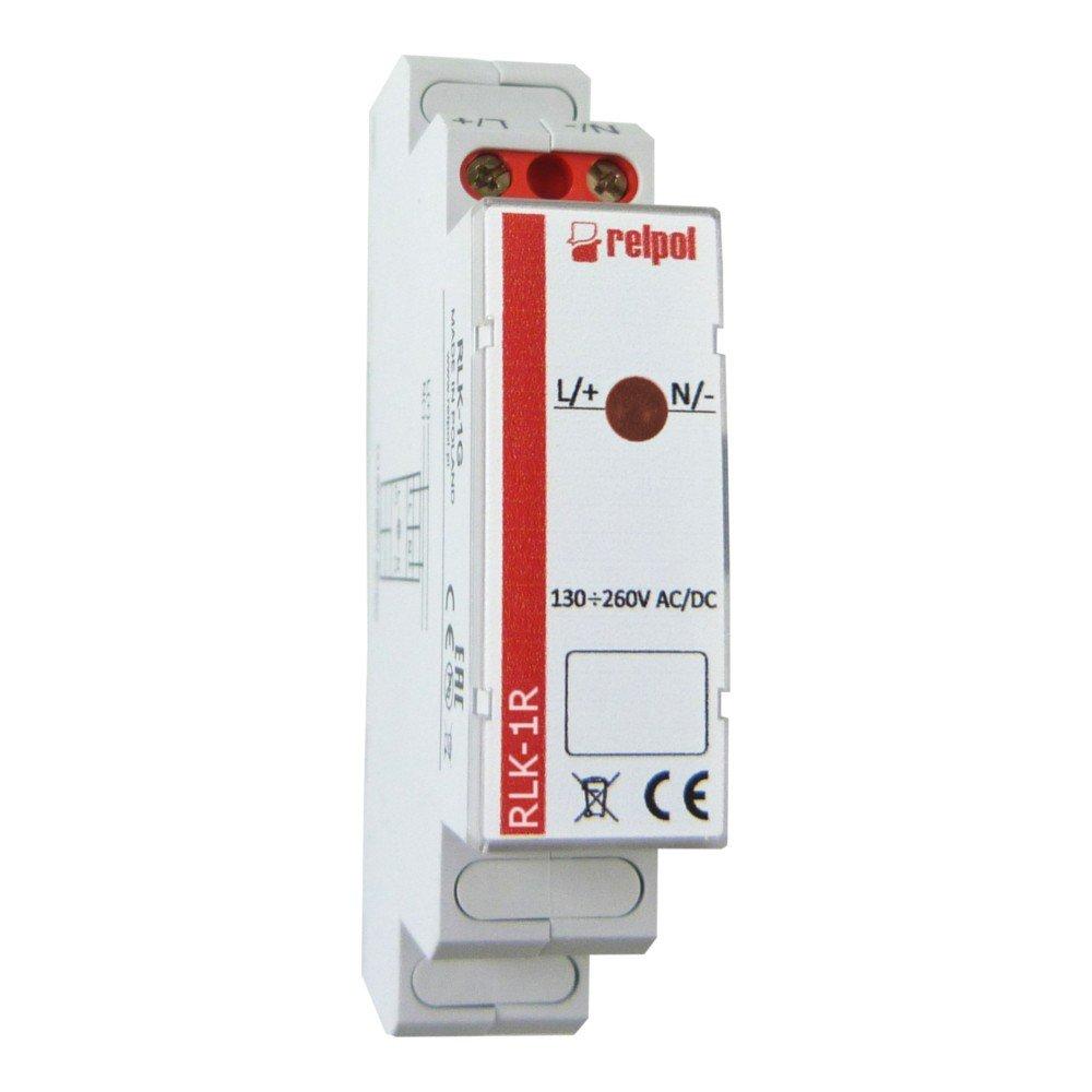Leuchtmelder 1 Phasen Rot Kontrollleuchte Phasenprü fer LED RLK-1R Relpol 8728