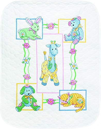 (Dimensions Baby Hugs Kit Stamped Quilt Babys Friends)