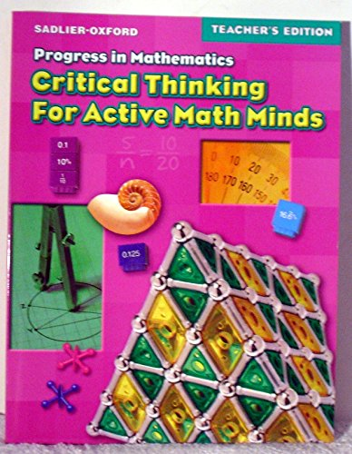 teaching critical thinking in mathematics A depth of knowledge rubric for reading, writing, and math by terry heick this is part 1 in a 3 part return to the classroom series, so the question game: a playful way to teach critical thinking feb 18, 2018 writing.