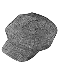 ZLS Women's Gatsby Newsboy Hat Cotton Linen Blend Painter Caps