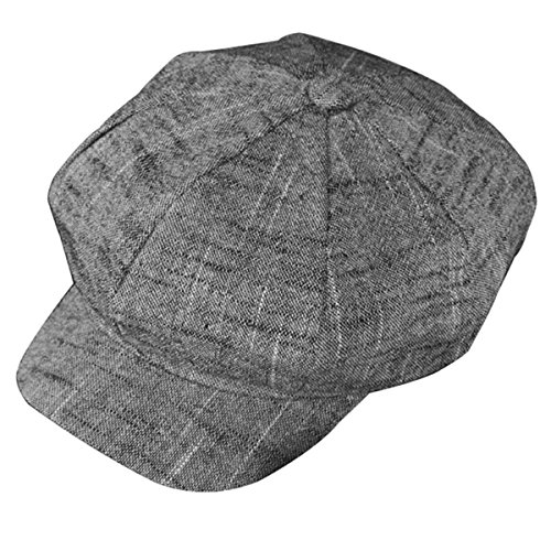 ZLS Women's Gatsby Newsboy Hat Cotton Linen Blend Painter Caps -