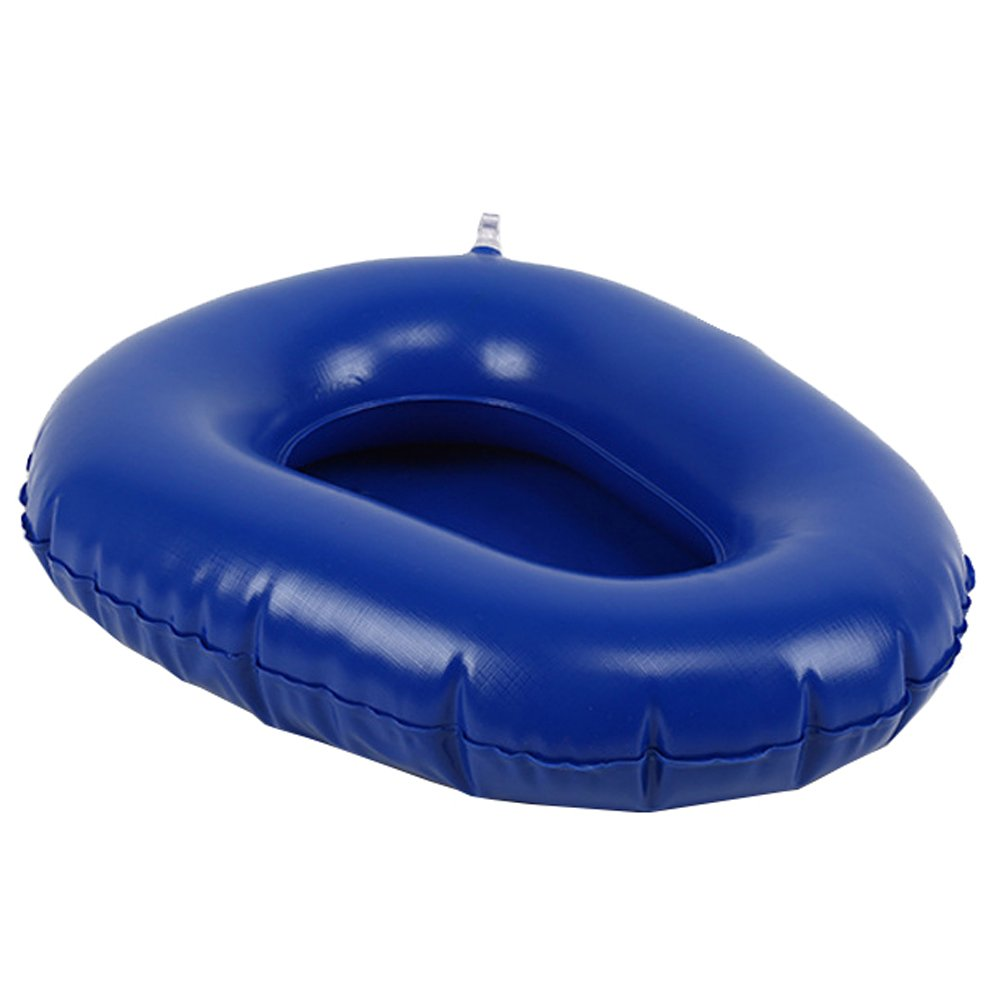 Wgwioo Bedpan Air Inflation Bed Pans Bedridden Inflatable Cushions Potty Washable Portable Elderly Bathroom Toilet,Blue,2Pcs