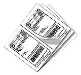 Half Sheet Self Adhesive Shipping Labels for Laser & Inkjet Printers White Blank,2 Labels per Sheet (2000 Labels)