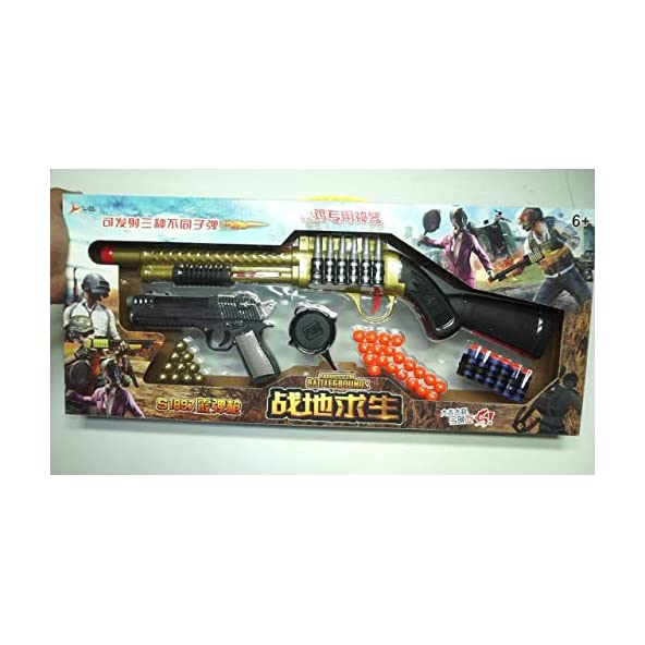 Ngel Original Theme Gun Toys Set with Assault Rifle, Toy Knife, Water and Soft Foam Bullets and Combat Cards Target Shooting Role Play Game for Kids