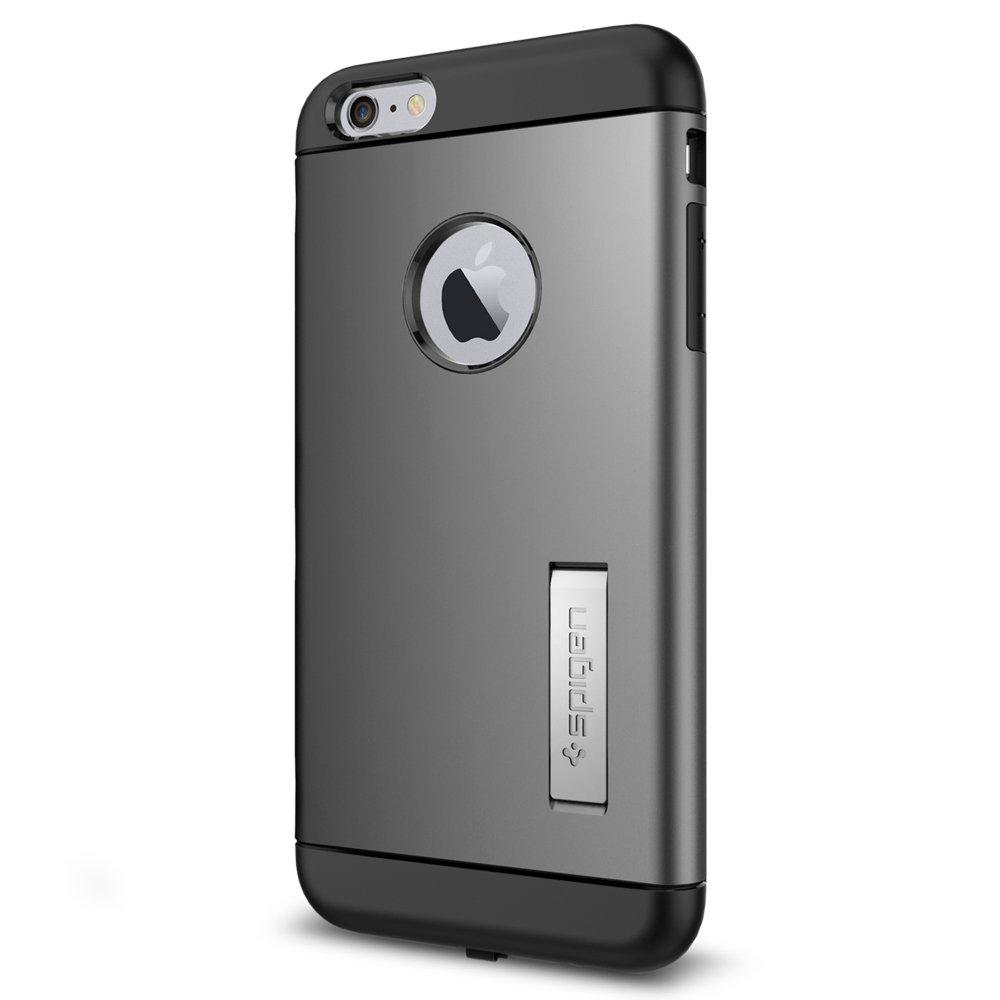 Spigen SGP11566 - Funda para iPhone 6 Plus / 6S Plus, Negro/Plata