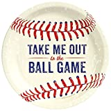 BirthdayExpress Baseball Time Party Dinner Plates (48 Pieces)