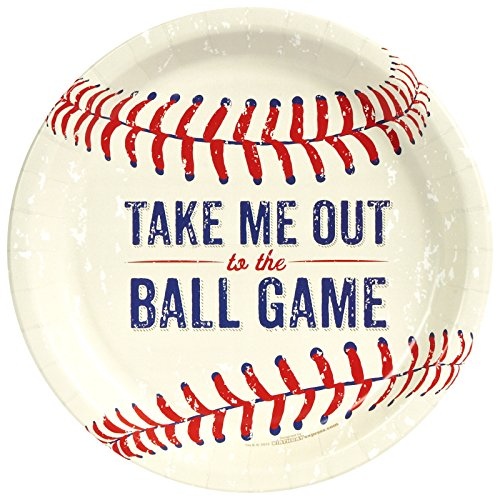 Baseball Birthday Party Supplies 24 Pack Lunch Plates ()