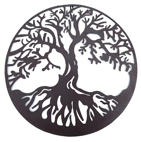 Tree of Life Metal Wall Hanging Sculptures Garden Art 24 Inches 1310 (Wall Art With Trees)