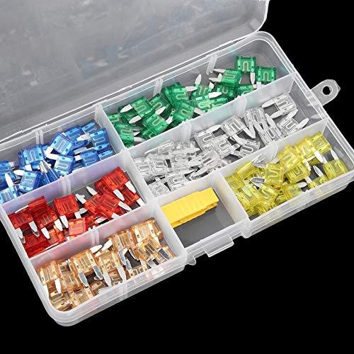 Lot Autom/óvil Blade Caja de fusibles Coche APM Mini Cuchilla Juego Mixto 2A 3A 5A 7.5A 10A 15A 20A 25A 30A 35A CGKCH034 Pudincoco 120Pcs