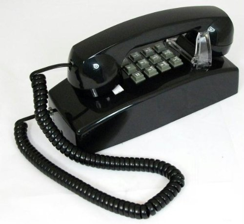 (Cortelco 255400 Vba 20md Mini Wall Phone Value Line Black Tone Dial Single Gong Ringer)