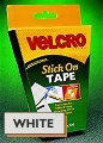 30mm SELF ADHESIVE WHITE VELCRO STRIP 1m LENGTHS