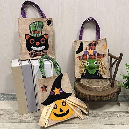 Main à Sacs Rangement Nourriture Fête Bonbons Enfants Halloween Lonlier Chat Ornement Noir Cadeau décorations Sac Noël de de qO8I8wZt
