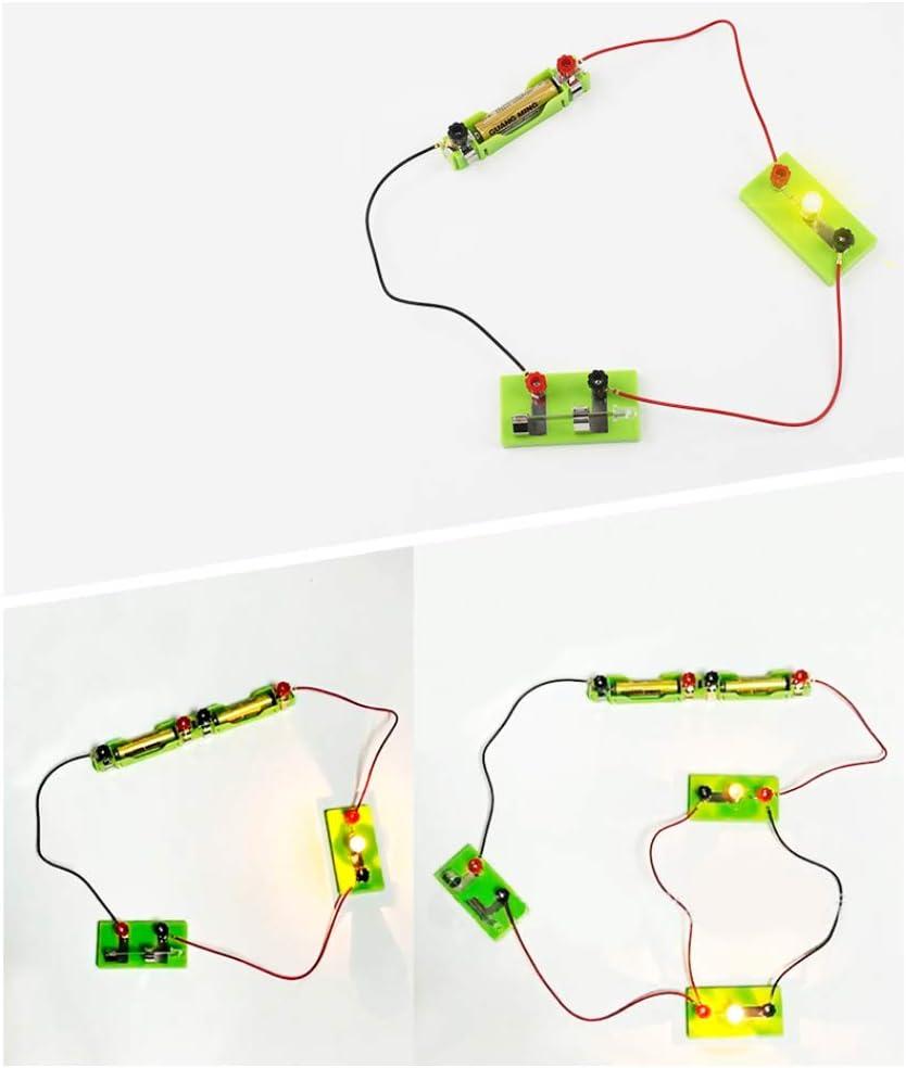 periwinkLuQღ Jeu de mat/ériel dexp/érimentation de circuit /électrique parall/èle avec /éclairage de petites ampoules multicolore