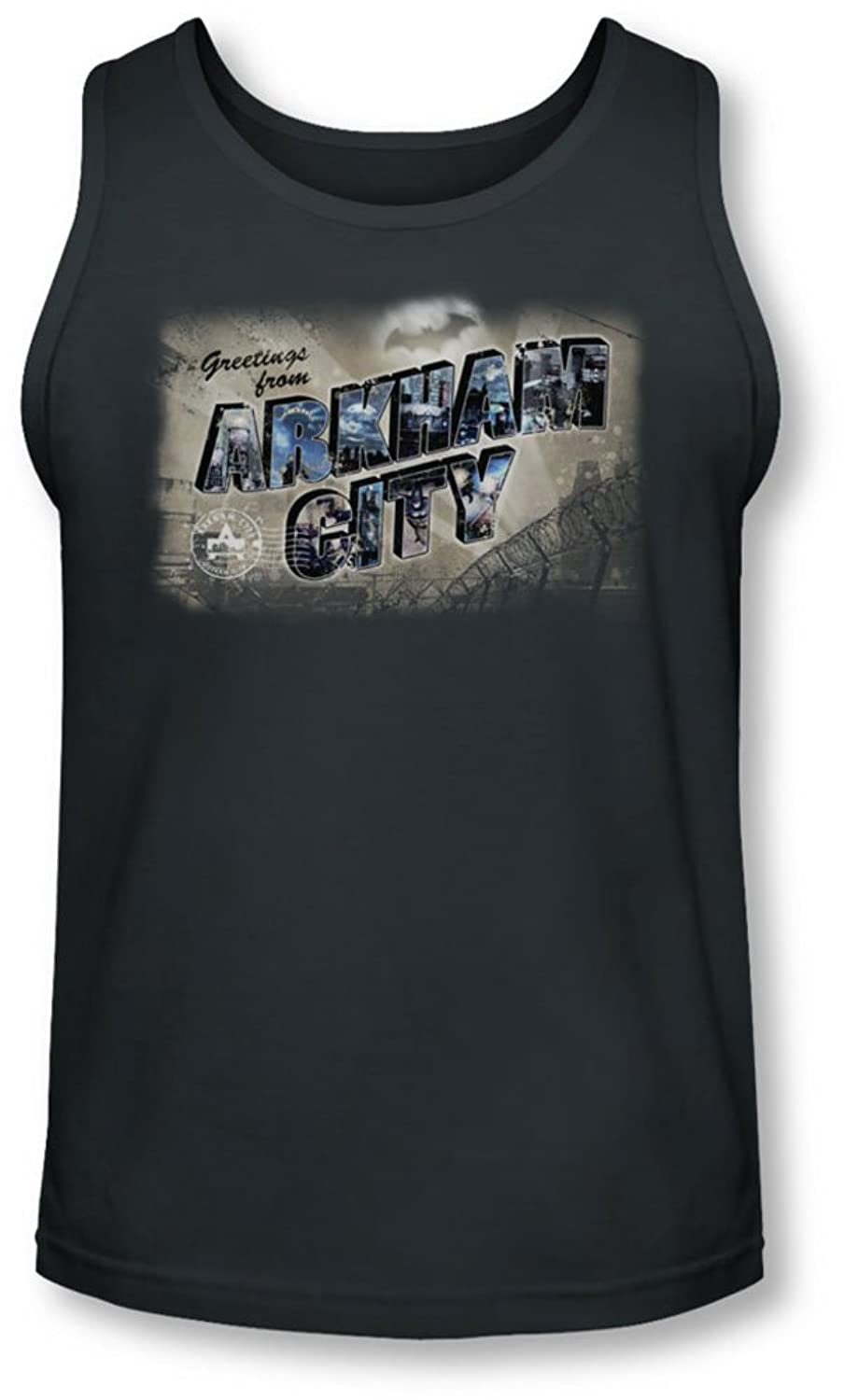 Arkham City - Mens Greetings From Arkham Tank-Top