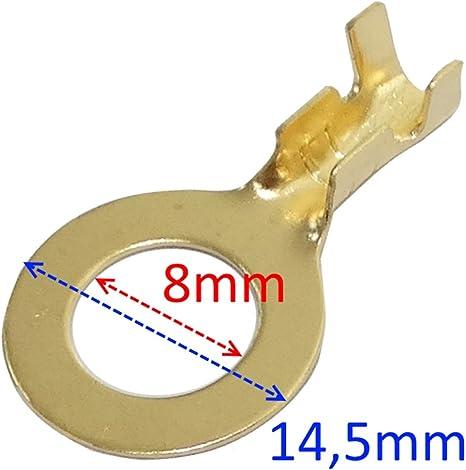 100x Terminales el/éctricos con ojo ojal M5 0.8-2.5mm/² C41303 AERZETIX