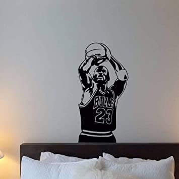 Amazon.com: LLLYZZ Michael Jordan Vinilo adhesivo de pared ...