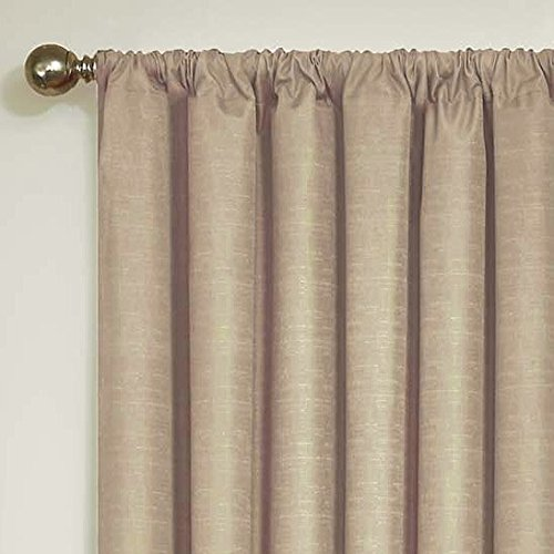 Eclipse Kids 13100042X084LTG Kendall 42-Inch by 84-Inch Blackout Single Window Curtain Panel, Light Grey