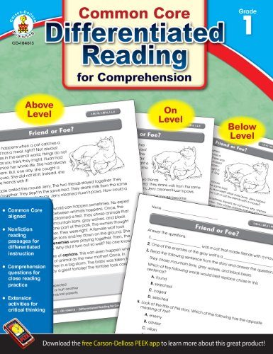 Differentiated Reading for Comprehension, Grade 1 (Second Grade Reading Passages For Main Idea)