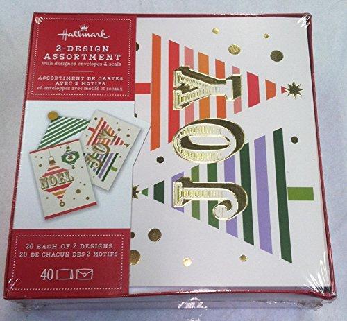 - Hallmark Christmas Boxed Cards BX4829 Joy Tree's and Noel Ornaments 2- Designs Assortment