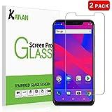 [2 Pack] BLU Vivo XI+ Screen Protector, KATIAN HD Clear Protector [Anti-Scratch] [No-Bubble] [Case-Friendly], 9H Hardness Tempered Glass Screen Film for BLU Vivo XI+