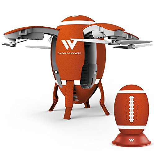 Hongfei W5 Egg Type Football Mini Folding Drone  Air Pressure Is Set High Speed Regulation One Key Start And Stop Trajectory Flight Lock Heading Drone For Beginners