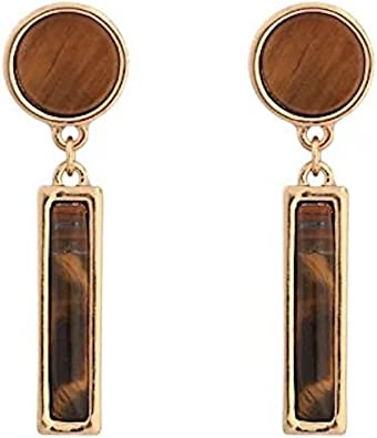 Sterling silver gold plated natural labrodrite hoop 45mm earring