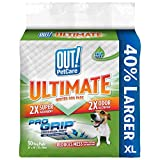 OUT! Ultimate Pro-Grip XL Dog Pads | Absorbent Pet Training and Puppy Pads | Grip Technology Prevents Slipping and Bunching | 20 Pads | 21 x 30 Inches