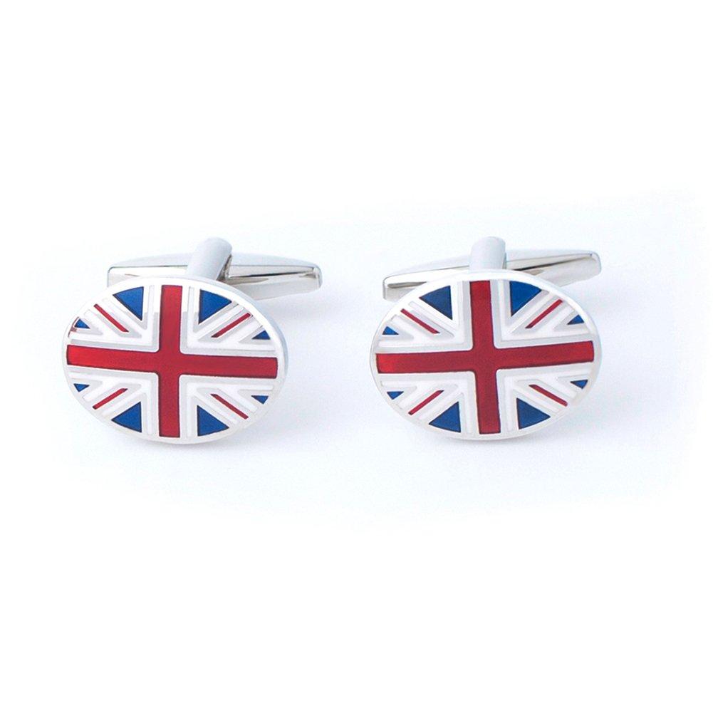 Anfly Official England British Flag Cufflinks lag Wedding Dress Shirts Cufflinks for Men