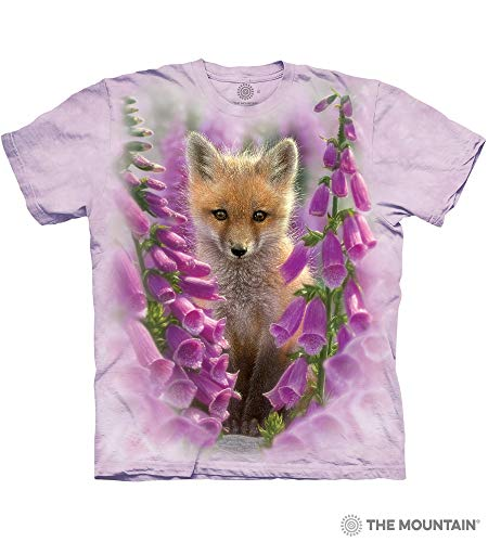 The Mountain Foxgloves Adult T-Shirt, Purple, Large