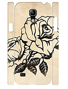 3D Print Hipster Black Rose Tough Phone Drop Protection Case for Samsung Galaxy S4 Mini I9195