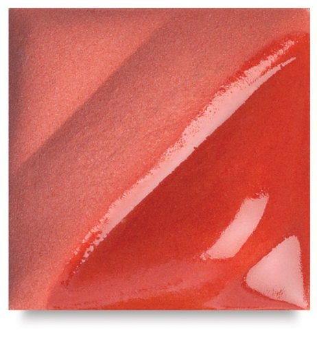 AMACO Velvet Lead-Free Non-Toxic Semi-Translucent Underglaze, 1 pt Jar, Red V-382 by AMACO (Red Velvet Underglaze)