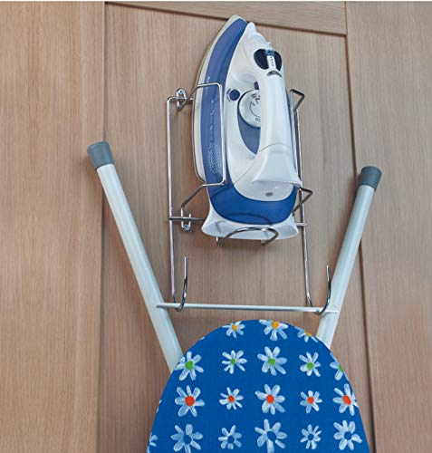 Iron and Ironing Board Holder Chrome Storage Rack HARDWARE FOR YOU LTD SKI 8069