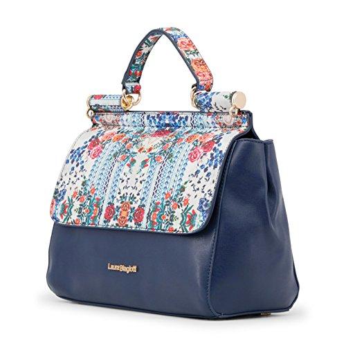 Handbag Biagiotti Designer Genuine Blue Women Laura PEfxZzP