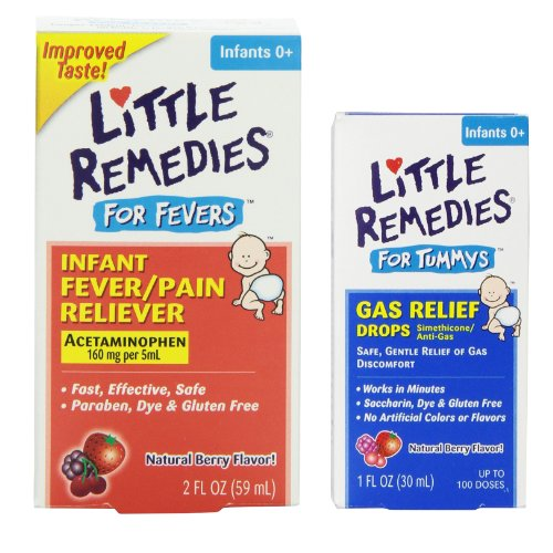 Little Remedies Fever Pain Reliever with Tummy Gas Relief Dr