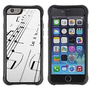 LASTONE PHONE CASE / Suave Silicona Caso Carcasa de Caucho Funda para Apple Iphone 6 PLUS 5.5 / Music Notes